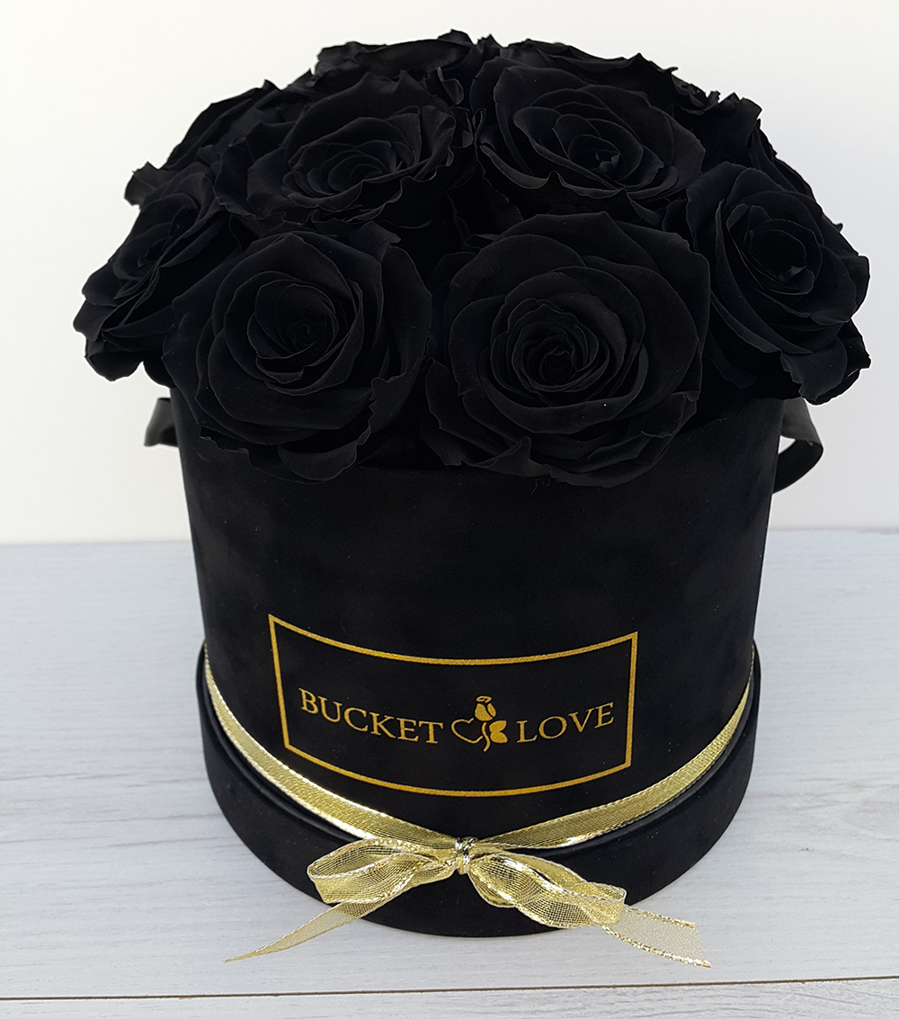 Box of black roses are mystical bucket of love for How to make black roses